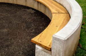 Concrete Rounded Bench