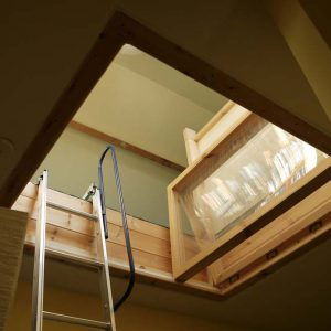 Bespoke Loft Hatch with folding windows & ladder