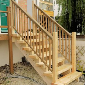 External Wooden Stairs