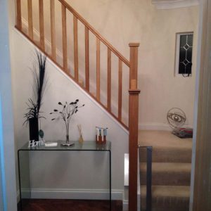 Updated stair banister