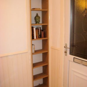 Custom shelving for alcove